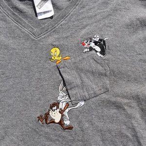 Looney Tunes Vintage V-Neck
